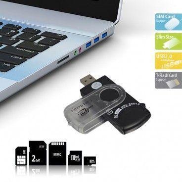Lecteur de carte universel USB 14 en 1 pour carte SIM et SD