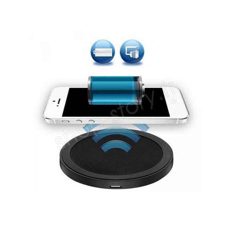 chargeur sans fil induction 14 99 pour iphone smartphones samsung. Black Bedroom Furniture Sets. Home Design Ideas