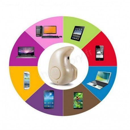 Oreillette Bluetooth Sans Fil Ultra Mini pour Smartphones iPhone Samsung HTC Sony LG