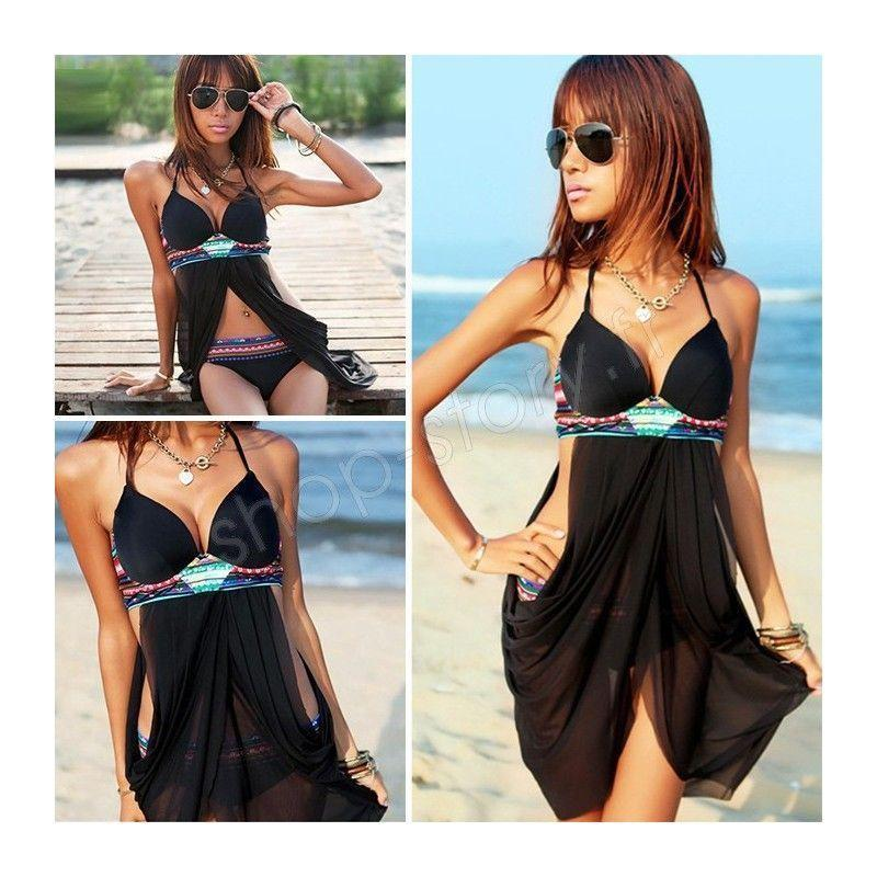 bikini hippie chic 17 99 tankini maillot de bain femme. Black Bedroom Furniture Sets. Home Design Ideas