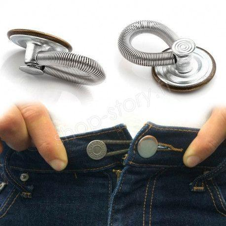 Lot de 6 Boutons Magiques Rallonge pour un Ajustement Parfait de vos Jeans et Pantalons