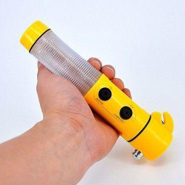 Lampe Torche de Sécurité Multifonction 4 en 1