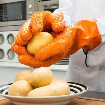 Gants Épluche Patates, Pommes de Terre - Pour Éplucher Rapidement