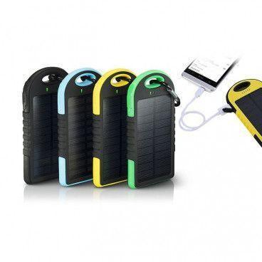 Power Bank Chargeur Solaire Portable avec 2 Ports USB et 1 Port Micro USB