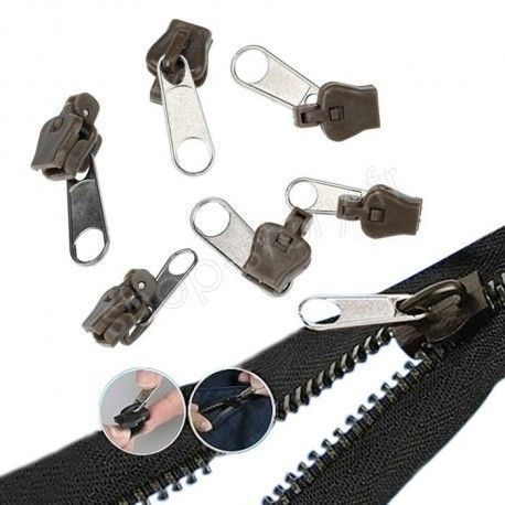 Kit de Réparation 6 Fermeture Eclair Remplacement Zip Réparez vous-même vos fermetures zippées FixnZip