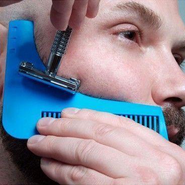 Peigne à Tailler la Barbe - Guide de Coupe pour des Lignes Parfaites et Symétriques après Rasage