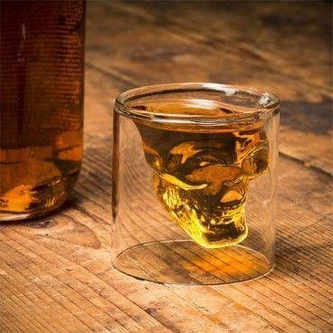 Verre Tête de Mort - Shooter pour Whisky Vodka etc