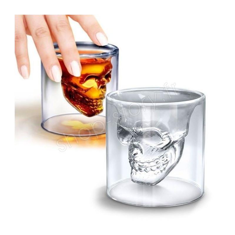 Verre A Whisky Tete De Mort : verre shot t te de mort shooter pour whisky vodka etc ~ Teatrodelosmanantiales.com Idées de Décoration