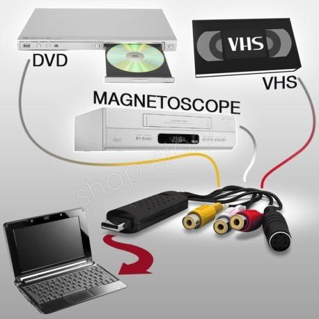 Convertisseur numérique VHS audio-vidéo vers USB 2.0