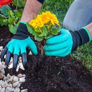 Gants de Jardinage avec 4 Griffes pour Creuser