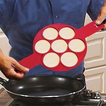 Moule en Silicone 7 Blinis, Pancakes Omelettes et autres