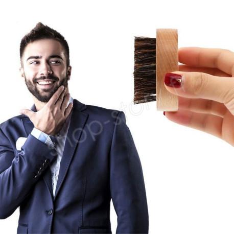 Brosse d'Entretien de la Barbe en Poils de Sanglier