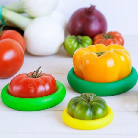 Lot de 4 Capuchons de Conservation pour Fruits et Légumes Entamés