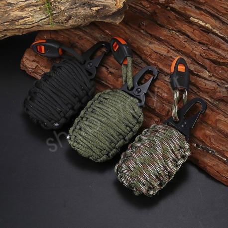 grenade de survie 9 99 kit de 21 pi ces avec mousqueton. Black Bedroom Furniture Sets. Home Design Ideas