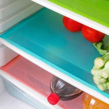 Lot de 3 Tapis Fraicheur pour Frigo Réfrigérateur Anti-bactériens