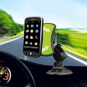 Support Universel de Voiture pour Smartphone GPS avec Base Tournante à 360º
