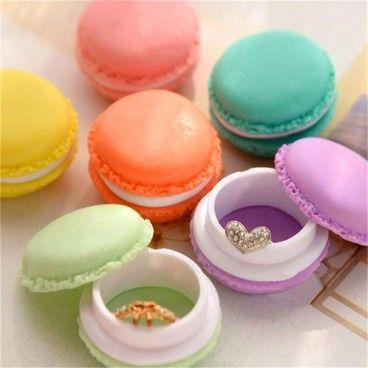 Pack de 6 Boîtes de Rangement en Forme de Macaron