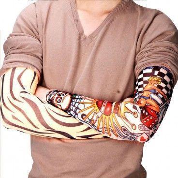Lot de 6 Manchettes de Faux Tatouages Différents