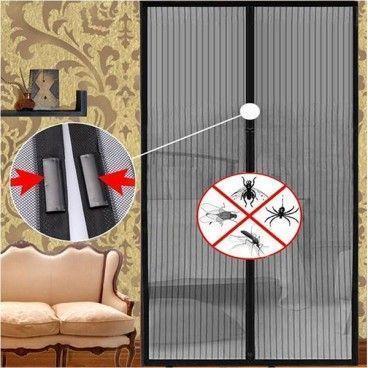 Moustiquaire Magnétique Anti Insectes pour Porte Avec Fermeture Aimantée 9 Aimants par Rideau