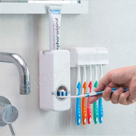Distributeur de Dentifrice avec Porte Brosse à Dents