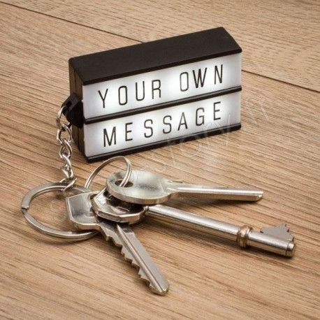 Porte-clés lightbox Mini Panneau Light Box