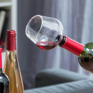 Bouchon de Bouteilles en Forme de Verre à Vin