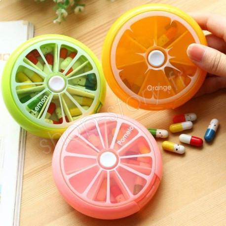 PilBox Pill Box Pilulier Semainier Agrume 7 Jours
