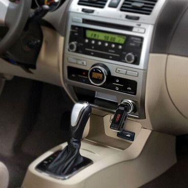 Kit Mains-Libres Bluetooth pour Voiture 4 en 1 avec Transmetteur de Musique