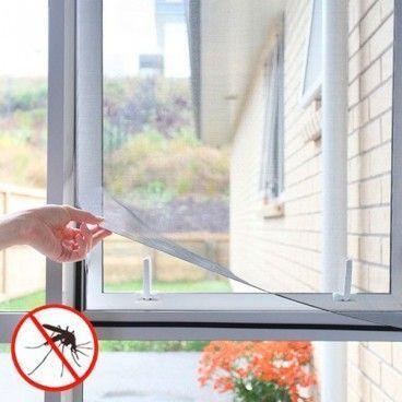 Moustiquaire pour fenêtre avec fixation velcro