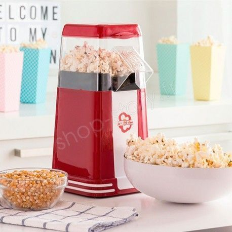 Machine à Pop-Corn 1200W Rouge