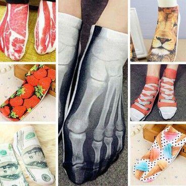 Pack de 7 Chaussettes Socquettes 3D Imprimées Taille Unique - 35 à 42