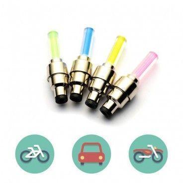 Valves à LED Pour Roues de Vélo / Moto / Voiture