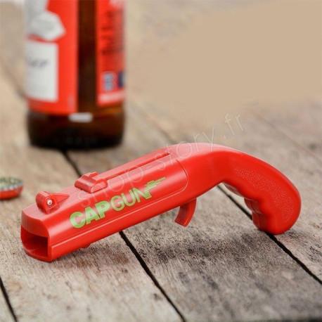 Pistolet décapsuleur lanceur ouvre bouteille