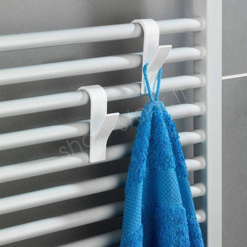 pack de 6 porte serviettes pour radiateur de salle de bain. Black Bedroom Furniture Sets. Home Design Ideas
