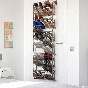 Meuble à Chaussures 12 Etagères à Suspendre Sur Porte De Placard Capacité de 36 Paires De Chaussures