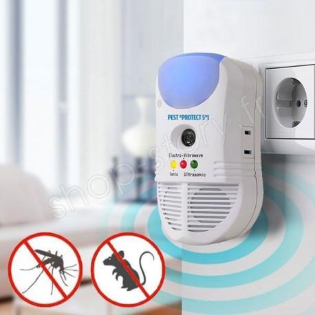 Répulsif Sur Prise Anti-Insectes Anti-Nuisibles 5-en-1 À Ultrason Pest eProtect