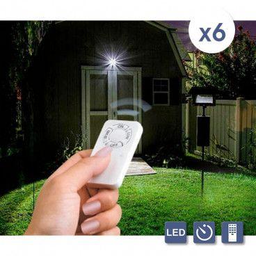 Pack De 6 Spots LED À Télécommande
