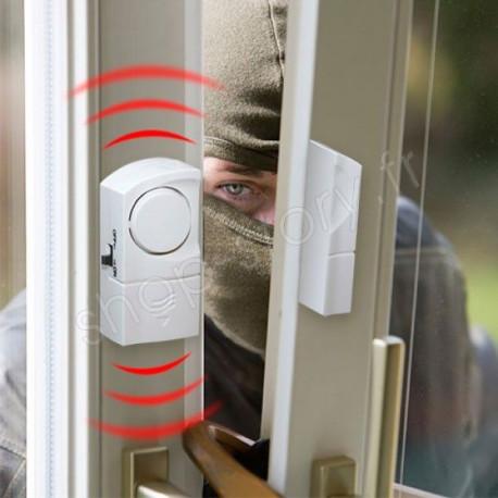 Détecteur Alarme d'Ouverture Sans Fil de Porte, Fenêtre, Baie Vitrée, Velux