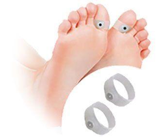 Bague Orteil Magnétique Amincissante de Réflexologie Plantaire Acupuncture Minceur en Silicone pour les pieds