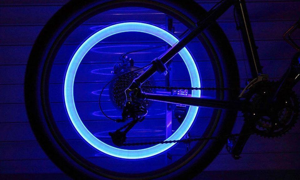 Bouchons de Valves lumineux Flash LED Pour Pneus Vélo Moto voiture Auto Décoration Lumineus