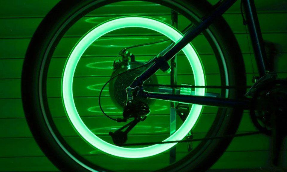 Bouchons de Valves lumineux Flash LED Pour Pneus Vélo Moto voiture Auto Décoration Lumineuse