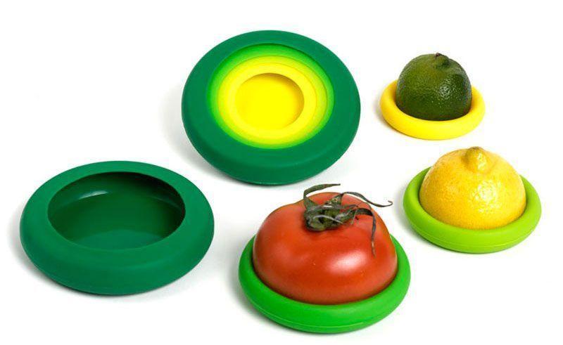 Couvercles Capuchons de Conservation pour Fruits et Légumes Entamés en Silicone Groupon