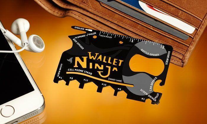 Carte Outil multifonctions 16-en-1 en Métal Ustensile De Survie Wallet Ninja annoncé en tv, magasin par télévision, vu en tv, tv, télé-achat Groupon Lot pour Loto