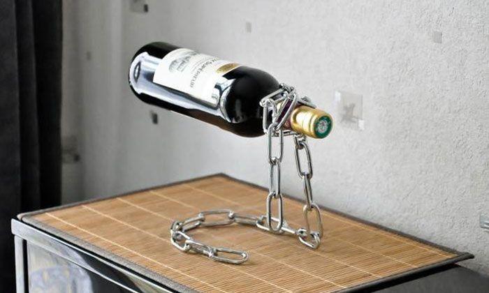 Chaîne Porte-Bouteilles de Vin Groupon