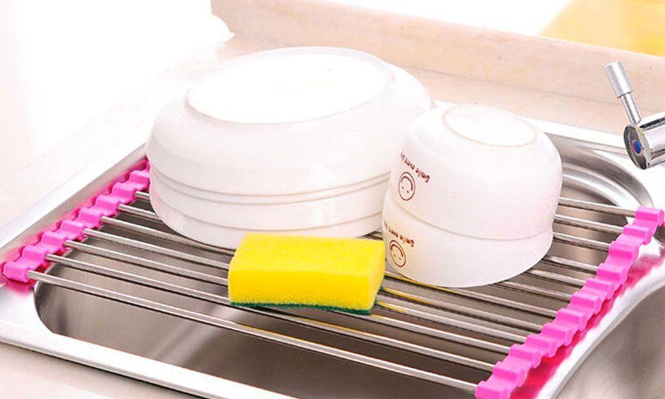 Égouttoir Passoire Repose Plat Vaisselle Evier Lavabo Pliable GROUPON