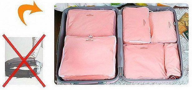 set 5 organisateurs organisateur bagage valise voyage sac. Black Bedroom Furniture Sets. Home Design Ideas