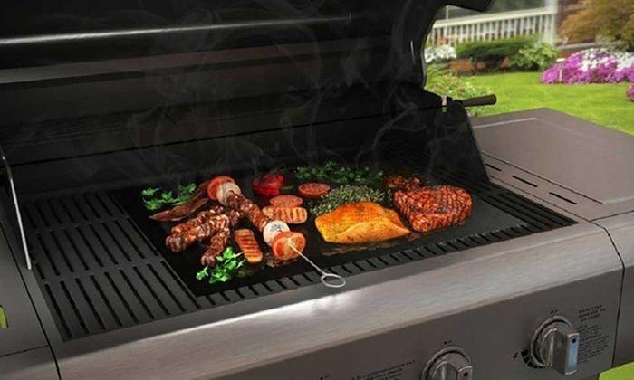 Plancha Feuille de Cuisson Antiadhésive et Réutilisable pour Barbecue Groupon