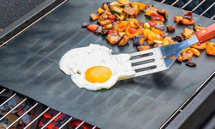 Feuille de Cuisson Antiadhésive et Réutilisable pour Barbecue Plancha Groupon