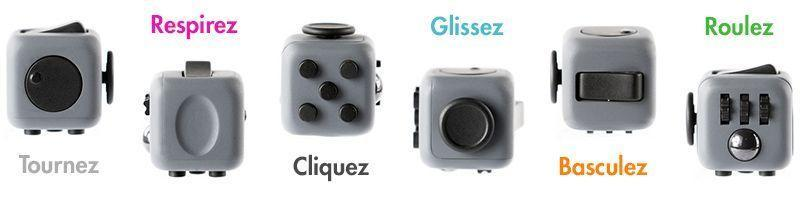 Fidget Cube Anti-Stress Anti- Anxiéte Anti-Bougeotte Adultes Enfants GROUPON AMAZON
