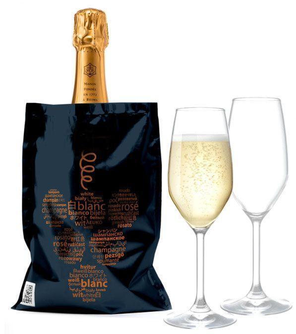 Pochette Isotherme Réfrigérante pour Bouteille de Champagne, Vin blanc, Vin Rosé et autres Groupon Lot pour Loto